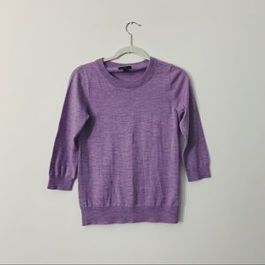 J. Crew Merino Wool Tippi Sweater in Lavender